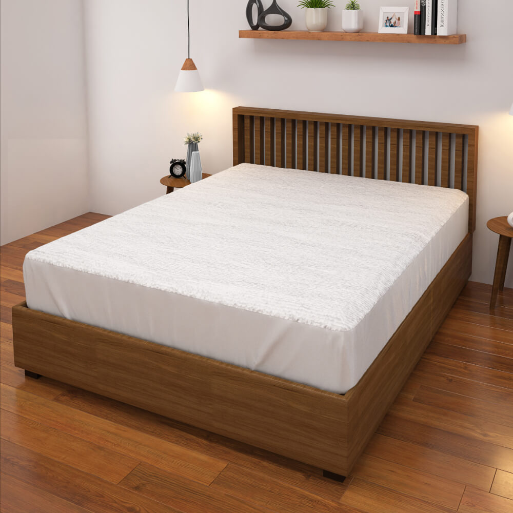 buy white waterproof mattress protector online – side view